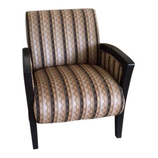 Axis Transitional Upholstered Walnut Easy Chairs - a Pair