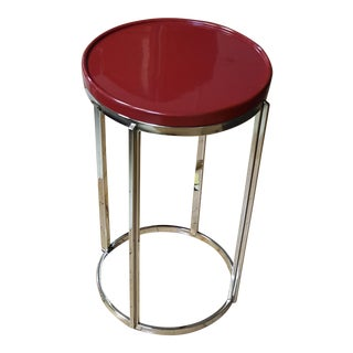 Bernhardt Ruby Red Top Chairside Table