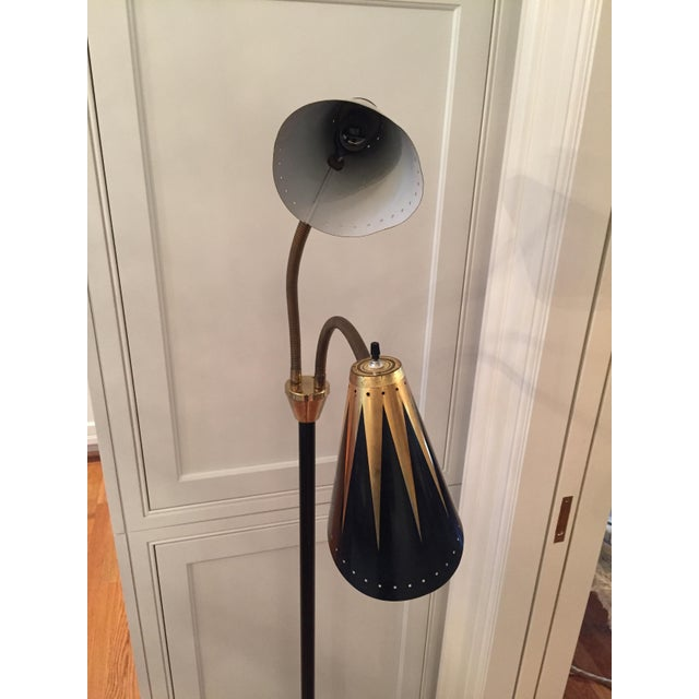 Black and Gold Retro Floor Lamp - Image 7 of 7