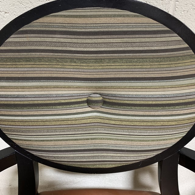 Art Deco Style Accent Arm Chairs - a Pair For Sale In Richmond - Image 6 of 13