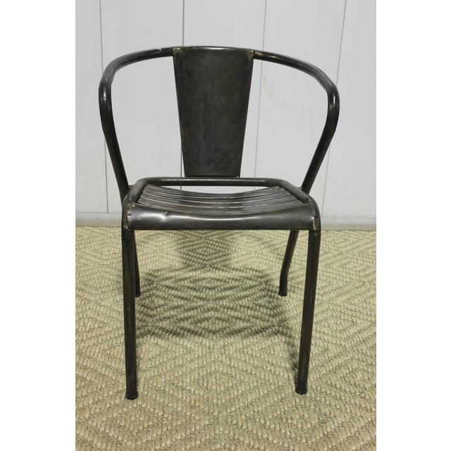 Vintage Metal Dining Chairs 1960s Set of Four, originally purchased from Lee Stanton.