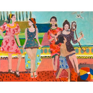 """''Almost There Girls Almost There"""" Contemporary Giclee Print by Michelle Heimann, 24"""" x 18"""" For Sale"""