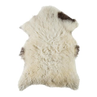 "Contemporary Natural Sheepskin Pelt - 2'3""x3'4"" For Sale"