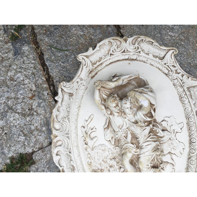 Rococo Chalkware Wall Hanging - Image 5 of 5
