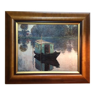 "Framed Giclee Print of Monet's ""Studio Boat"" For Sale"
