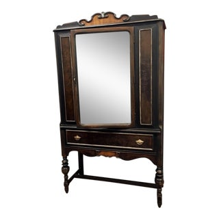 Early 1900s Jacobean Hutch