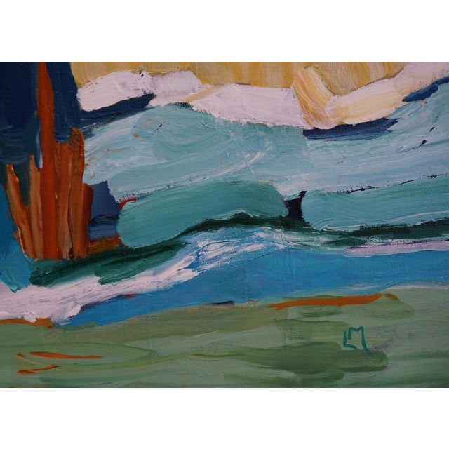 """Laurie MacMillan """"New Wave"""" Abstract Seascape Painting For Sale In Los Angeles - Image 6 of 7"""
