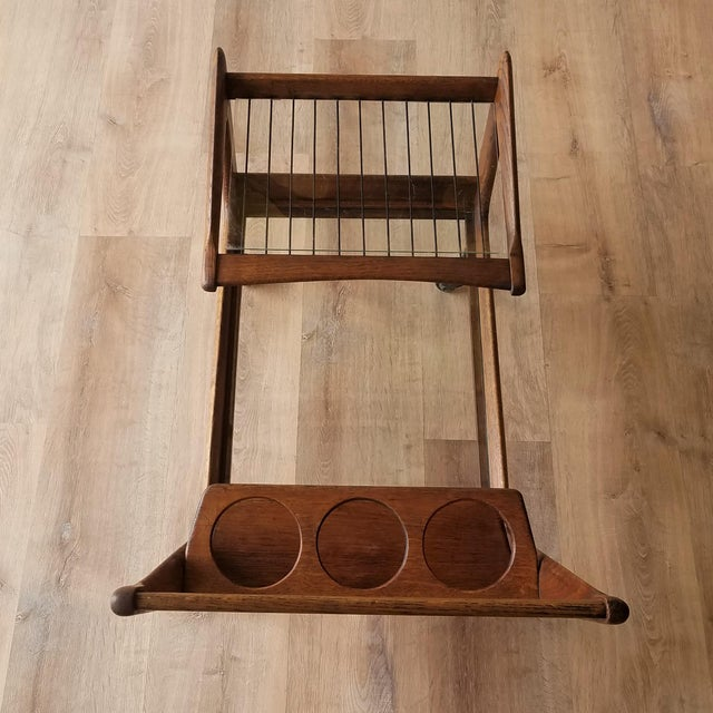 Mid 20th Century Mid 20th Century Italian Mid-Century Modern Bar Cart For Sale - Image 5 of 13