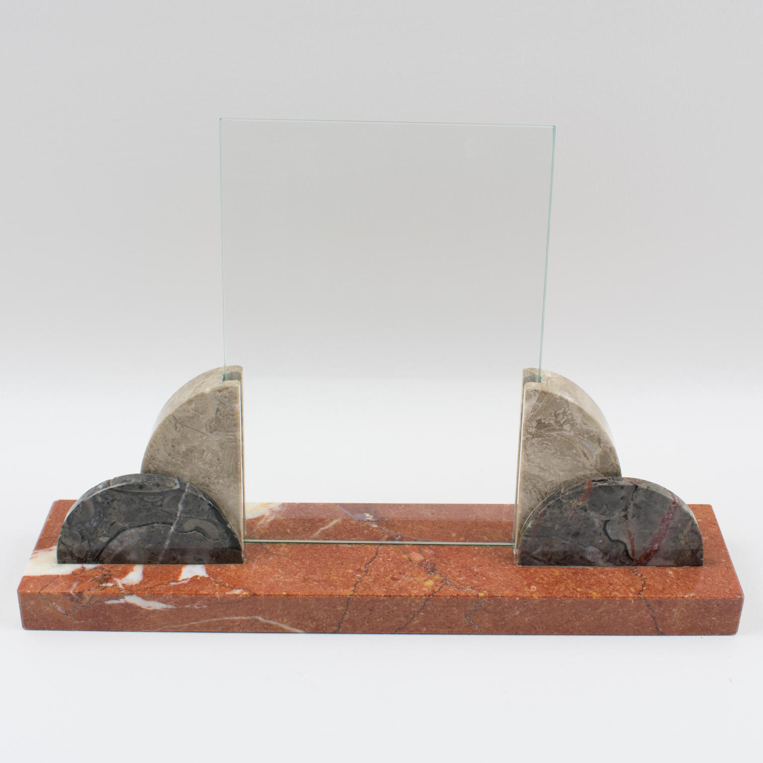 Appealing ART DECO polished marble PHOTO frame from the 1930/'s