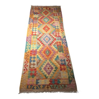 Contemporary Tribal Runner Kilim Rug - 2′8″ × 8′2″ For Sale