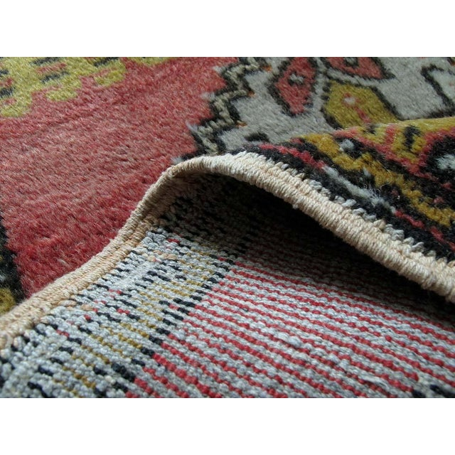 "Pink Vintage Turkish Rug - 1'8"" x 3'2"" - Image 7 of 7"