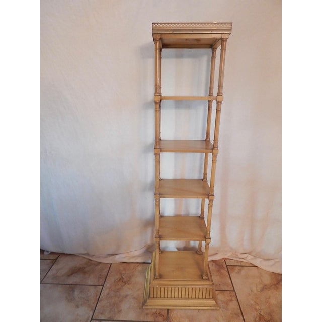 Mid-Century Faux Bamboo Tiered Shelf - Image 3 of 10