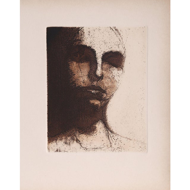 Artist: Unknown Title: Untitled - Sleeping Portrait (9) Year: circa 1965 Medium: Etching on Arches Paper Image Size: 9.5 x...