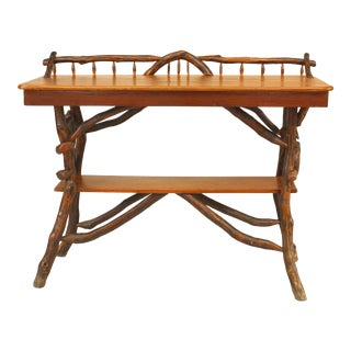 Rustic Adirondack Twig and Pine Console Table For Sale