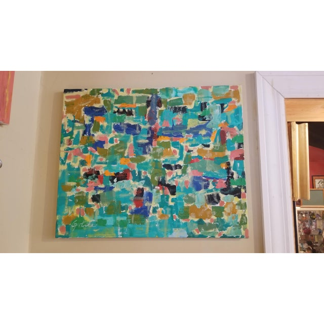 Abstract Expressionist Original Acrylic on Canvas Painting - Image 6 of 13