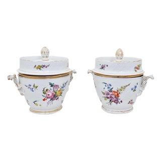 Rare 19th Century Porcelain Fruit Coolers - a Pair