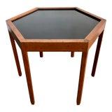 Image of 1960s Danish Modern Hans C. Andersen Teak Hexagonal Side Table For Sale