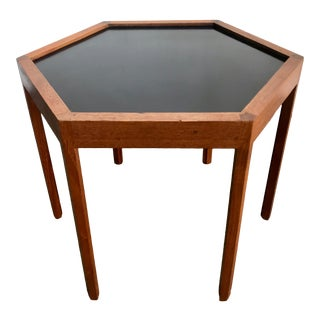 1960s Danish Modern Hans C. Andersen Teak Hexagonal Side Table For Sale