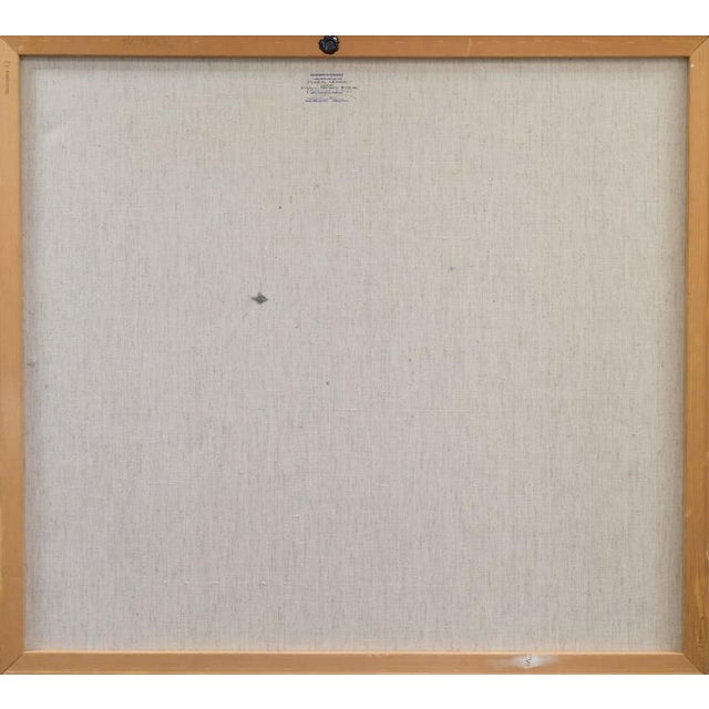 White Frealon Norden Bibbins Floral Abstract 1976 For Sale - Image 8 of 10