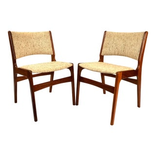 Danish Modern Hans Wegner Style Walnut Chairs - A Pair For Sale