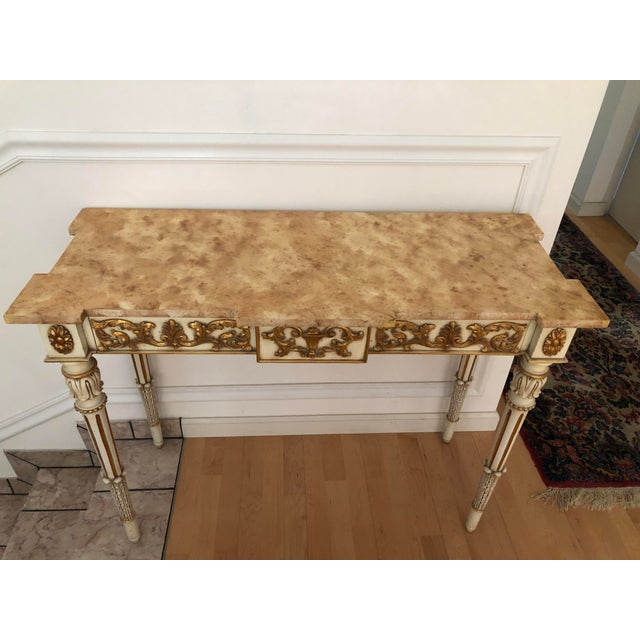 Karges Furniture 20th Century Vintage Karges Louis XVI Style Console Entry Table For Sale - Image 4 of 12