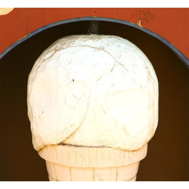 """American Very Large """"Maloof's"""" Ice Cream Shop Sign For Sale - Image 3 of 7"""