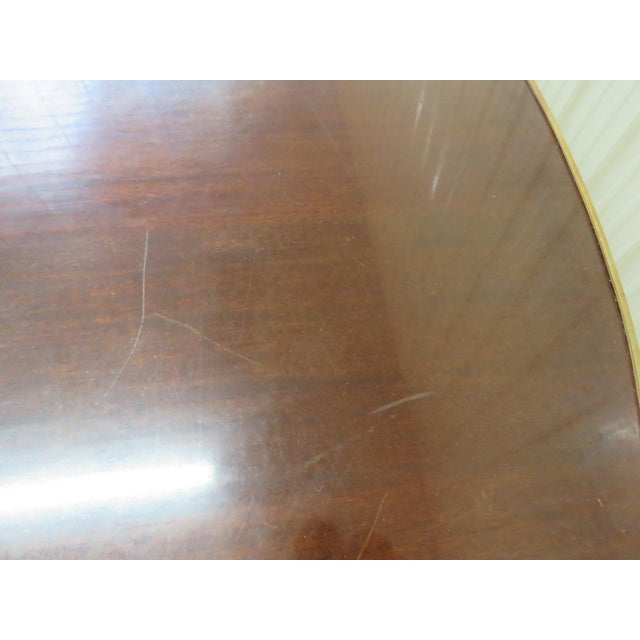 Metal Regency Style Dining Room Table For Sale - Image 7 of 8