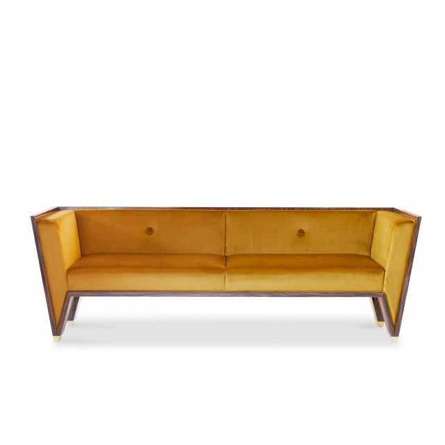 2010s Wedge Sofa by Artist Troy Smith - Contemporary Design - Custom Furniture For Sale - Image 5 of 9