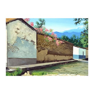 Springtime in the Village by Guardado Aguilera For Sale