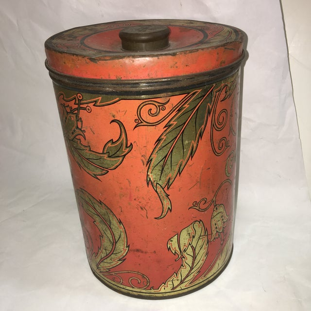 1950's Geo F. Hellick Coffee Tin Canister - Image 3 of 8
