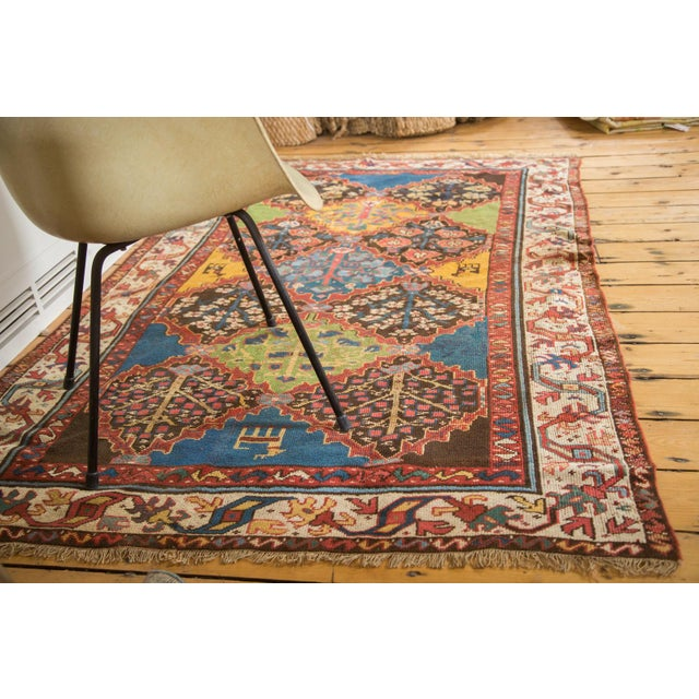 "Vintage Colorful Turkish Melas Rug - 4'6"" X 7' - Image 7 of 9"