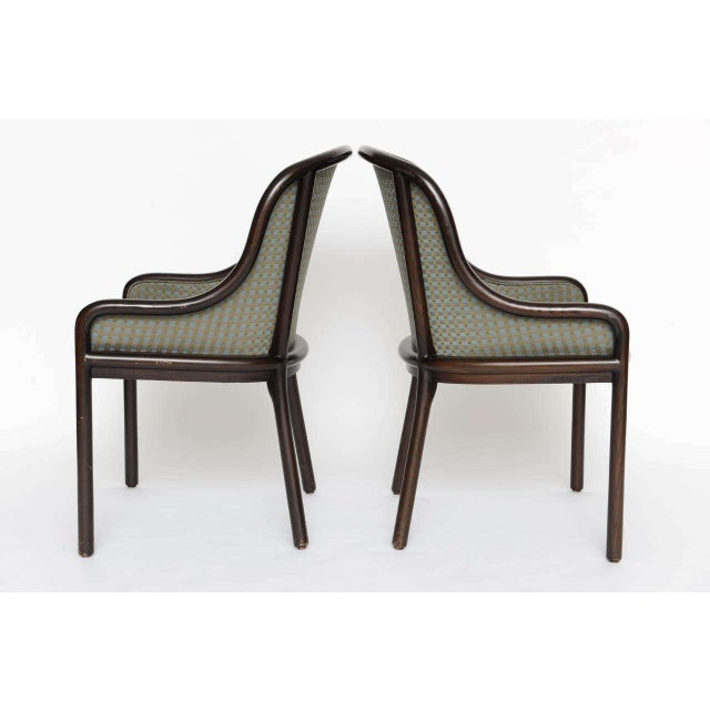 Fabric Pair of Ward Bennett Chairs for Brickell 1970s For Sale - Image 7 of 10