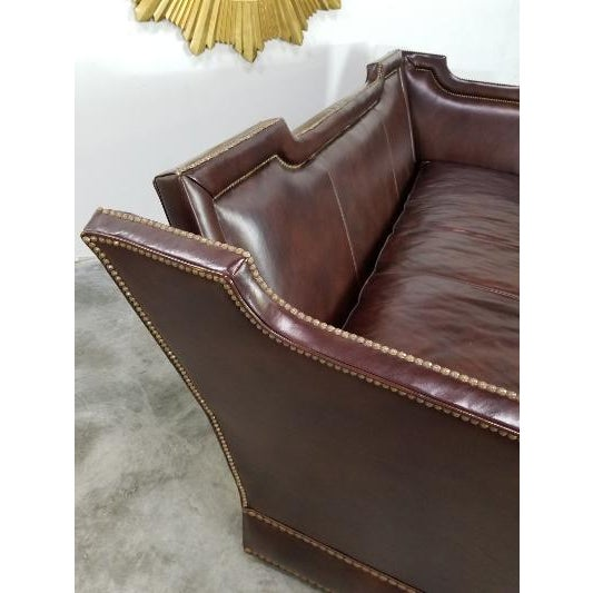 Brown Leather Sofa by Ferguson Copeland For Sale - Image 8 of 13