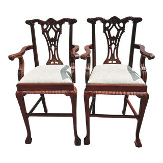 Chippendale Mahogany Chairs - A Pair For Sale