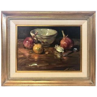 Gil DiCicco Original Signed Oil Painting Titled Still Life Number Nine For Sale