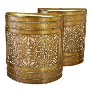 Moroccan Copper Half Cylindrical Sconces - a Pair For Sale