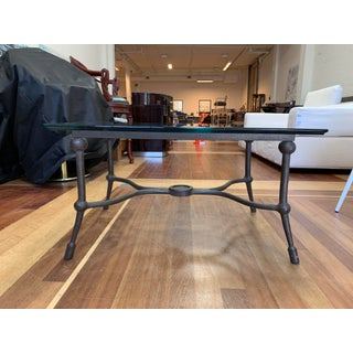 Pierre Deux Forged Iron + Glass Coffee Table Preview