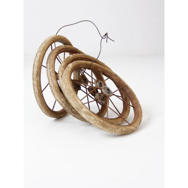 Metal Vintage Doll Carriage Wheels - Set of 4 For Sale - Image 7 of 7
