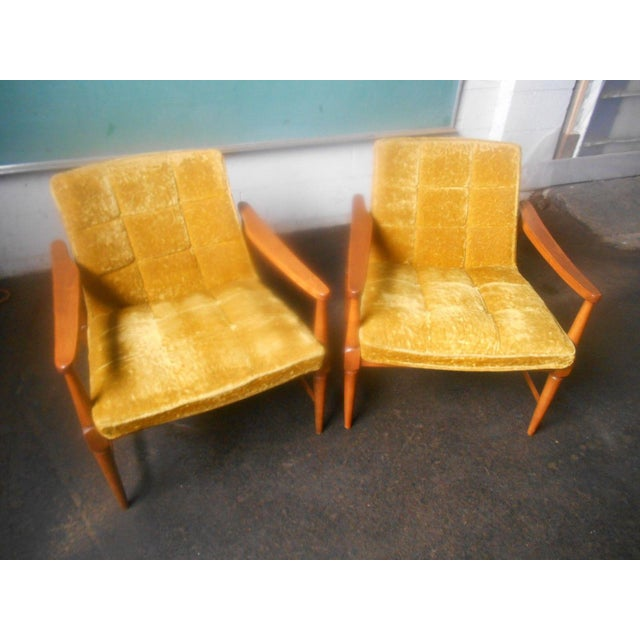 Vintage Mid-Century Danish Modern Lounge Chairs- a Pair For Sale - Image 9 of 10