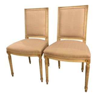 Maison Jansen Set of 12 Louis XVI Style Dining Chairs with Scalamandre Fabric