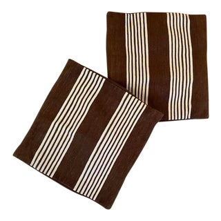 Madeline Weinrib Amagansett Striped Shams-a Pair For Sale