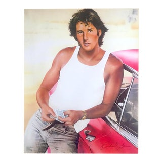 "Richard Bernstein Rare Vintage 1982 "" Richard Gere "" Iconic Herb Ritts Photo Pop Art Poster For Sale"