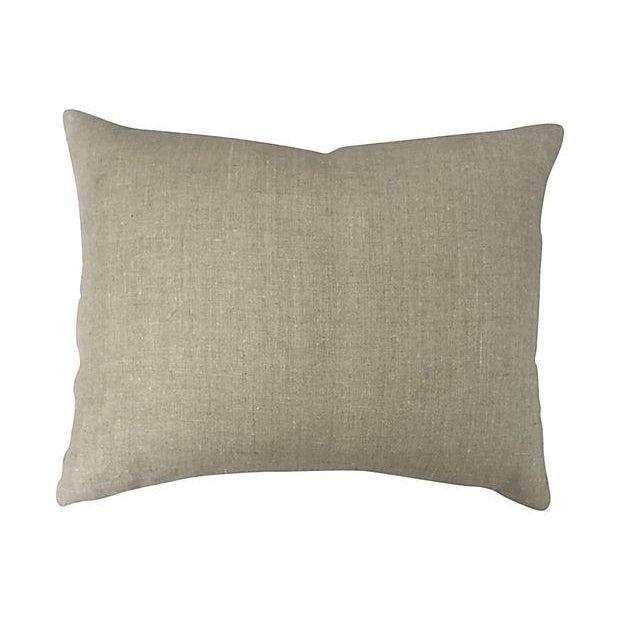 Antique Suzani Fragment Pillow - Image 6 of 6