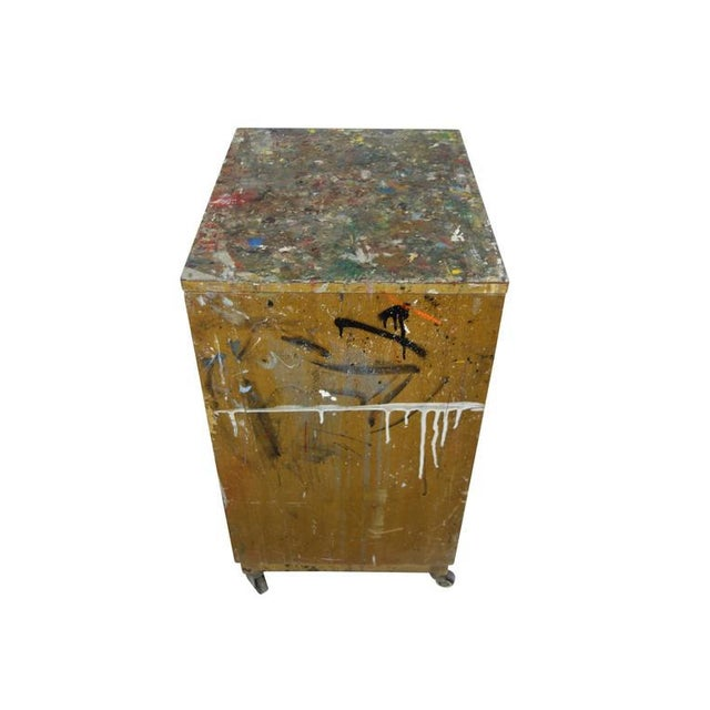 Paint Splattered Cabinet From an Artist Studio For Sale - Image 9 of 10
