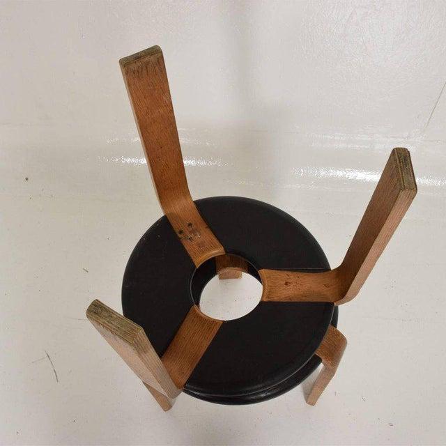 Mid-Century Modern Pair of Vintage Donut Stools by Rud Thygesen & J Sorensen For Sale - Image 10 of 11
