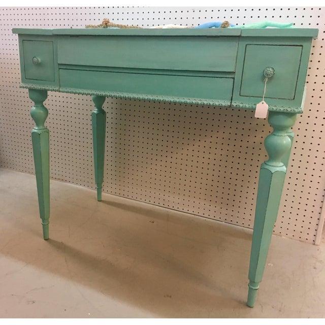 Seafoam Green Antique Desk - Image 4 of 6