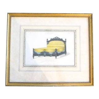 Framed Antique Le Garde Meuble French Numbered Litho by Desire Guilmard For Sale