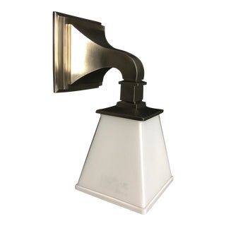 E. F. Chapman Chinoiserie Antique Nickel Bath Wall Light by Visual Comfort For Sale