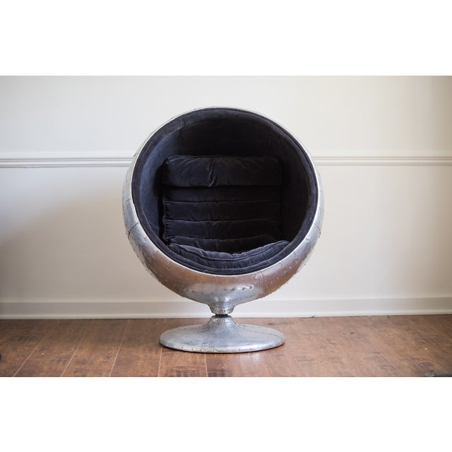 Modern Restoration Hardware Orbit Spitfire Chair For Sale - Image 3 of 6