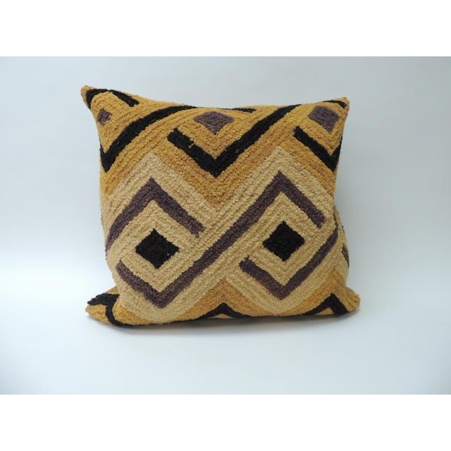 Tribal Woven and Embroidery African Decorative Square Artisanal Textile Pillow For Sale In Miami - Image 6 of 6